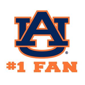 Auburn Tigers #1 Fan Decal
