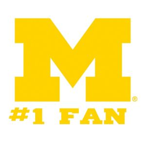 Michigan Wolverines #1 Fan Decal