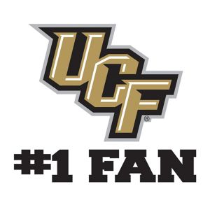 UCF Knights #1 Fan Decal