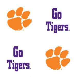 Clemson Tigers Face Tattoos 4ct