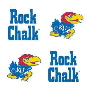 Kansas Jayhawks Face Tattoos 4ct