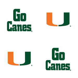 Miami Hurricanes Face Tattoos 4ct