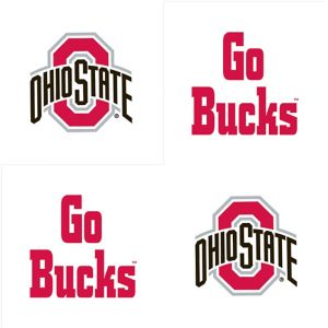 Ohio State Buckeyes Face Tattoos 4ct
