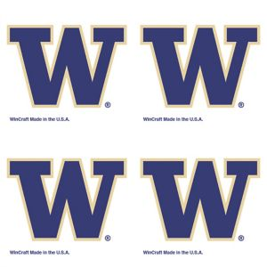 Washington Huskies Face Tattoos 4ct