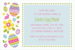Custom Egg Hunt Invitations
