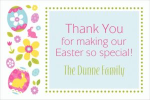 Custom Egg Hunt Thank You Notes