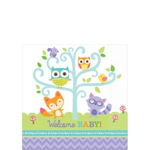 Woodland Baby Shower Beverage Napkins 16ct