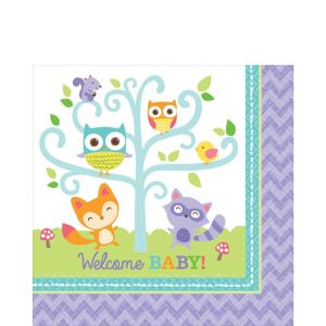 Woodland Baby Shower Lunch Napkins 16ct