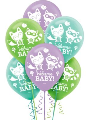 Woodland Baby Shower Balloons 15ct