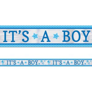 It's a Boy Baby Shower Foil Banner