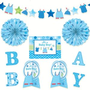 It's a Boy Baby Shower Room Decorating Kit 10pc