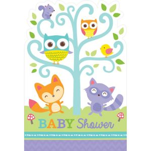 Woodland Baby Shower Invitations 8ct