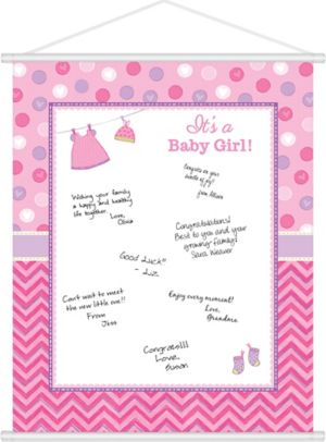 It's a Girl Baby Shower Sign-In Sheet