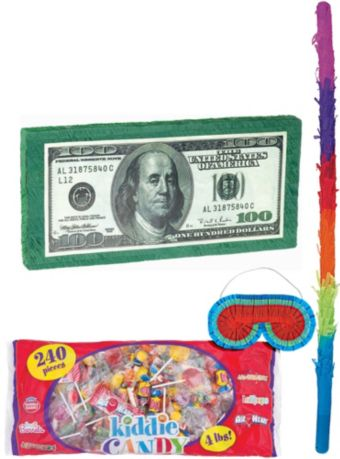 One Hundred Dollar Bill Pinata Kit