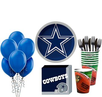 Dallas Cowboys Super Party Kit for 18 Guests