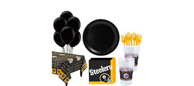 Pittsburgh Steelers Super Party Kit for 18 Guests