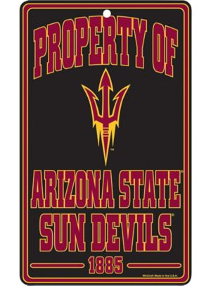 Property of Arizona State Sun Devils Sign