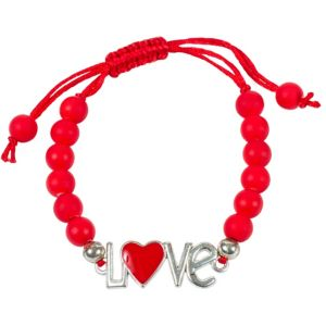 Red Sliding Knot Love Bracelet