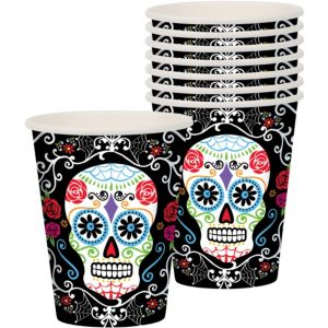 Sugar Skull Cups 18ct - Day of the Dead