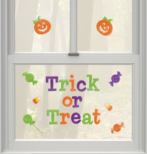 Trick or Treat Gel Cling Decals 29ct