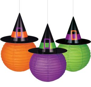 Witch Hat Paper Lanterns 3ct