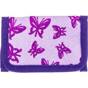 Purple Butterfly Glitter Wallet