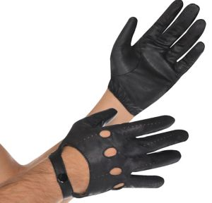 Black Motorcycle Gloves