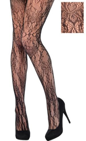 Black Baroque Lace Stockings