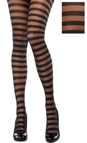 Black Striped Stockings