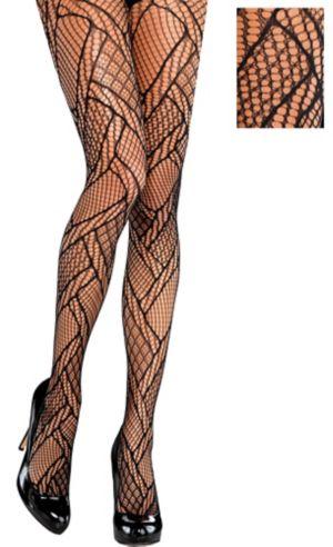 Black Mosaic Fishnet Pantyhose