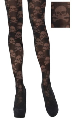Black Skull & Crossbones Tights
