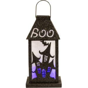 Light-Up Glitter Haunted House Lantern