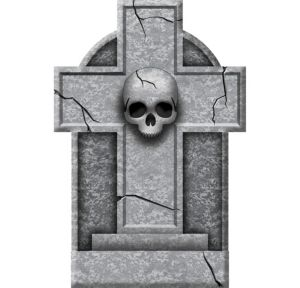 Small Skull Cross Tombstone