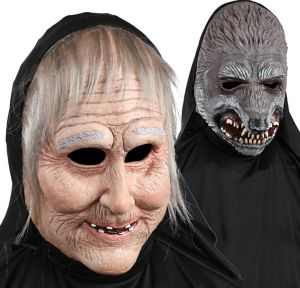 Hooded Wolf & Granny Mask - Little Red Riding Hood