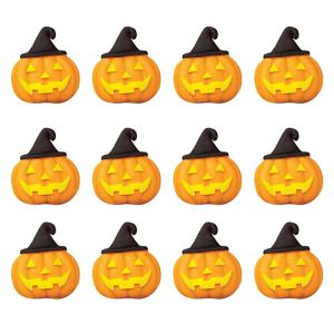Witch Jack-o'-Lantern Icing Decorations 12ct