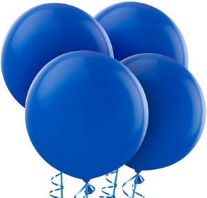 Royal Blue Balloons 4ct