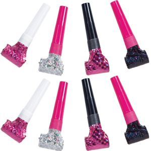 Prismatic Black & Pink Squawker Blowouts 8ct
