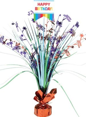 Rainbow Birthday Spray Centerpiece