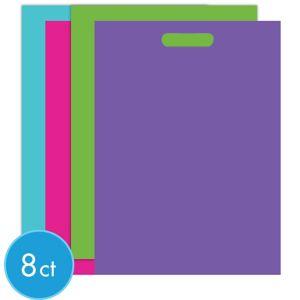 Giant Purple & Teal Pastel Favor Bags 8ct