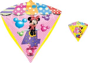 4th Birthday Minnie Mouse Balloon - Diamondz