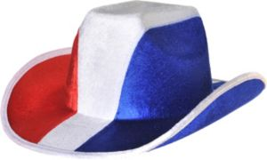 Red, White & Blue Cowboy Hat