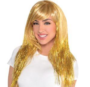 Glamorous Long Gold Wig