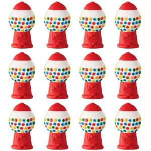 Gumball Machine Icing Decorations 12ct