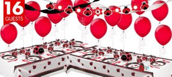 Fancy Ladybug Deluxe Party Kit for 16 Guests