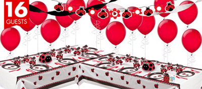 Fancy Ladybug Party Supplies Deluxe Party Kit