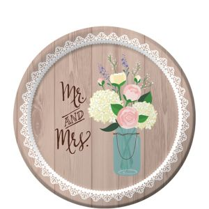 Rustic Wedding Dessert Plates 8ct