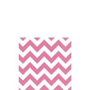 Bright Pink Chevron Beverage Napkins 16ct