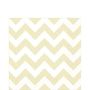 Vanilla Cream Chevron Lunch Napkins 16ct