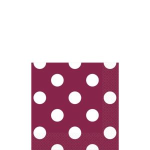 Berry Polka Dot Beverage Napkins 16ct