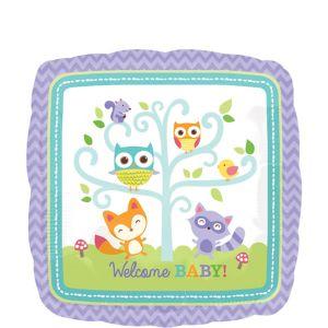 Welcome Baby Balloon - Woodland